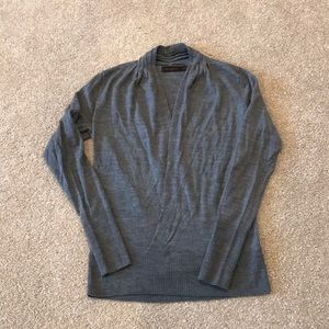Criss cross sweater.